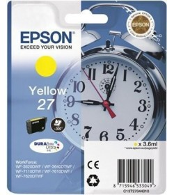 Ink Epson 27 C13T270440 Yellow Crtr -300Pgs - 3.6ml