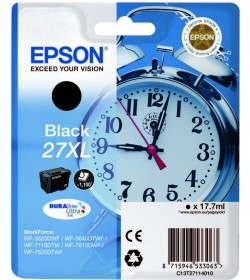 Ink Epson 27XL C13T271140 Black Crtr -1100Pgs - 17.7ml
