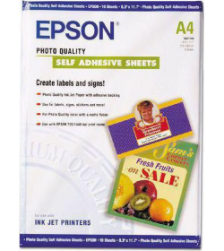 Photo Quality Self Adhesive Paper Epson A4 10Shts 167g
