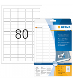 Labels Herma Movable 2000pcs - 25Sheets