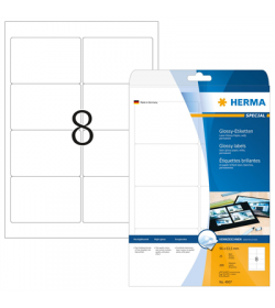 Labels Herma 96x63,05 Gloss Laser - Copy 200pcs - 25Sheets 4907