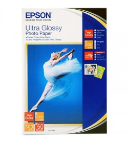 "Ultra Glossy Photo Paper, 10x15cm (4x6""), 50 sheets."