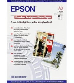 Premium Photo Paper Epson Semi Gloss A3 20Shts 251g