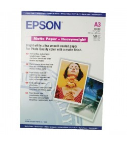 Heavyweight Paper Epson Matt A3 50Shts 167g