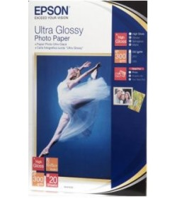 "Ultra Glossy Photo Paper 10x15cm (4x6""), (20 sheets)."