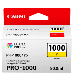 Ink Canon PFI-1000Y Yellow - 80ml