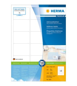 Ετικετες Herma Premium Matt 63.5 x 46.6mm - 1800Τ 100 Shts 4265