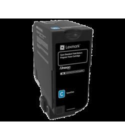 Toner Laser Lexmark 74C2SC0 Cyan -7k Pgs