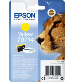 Ink Epson T0714 C13T07144020 Ultra Yellow - 5,5ml - 475Pgs