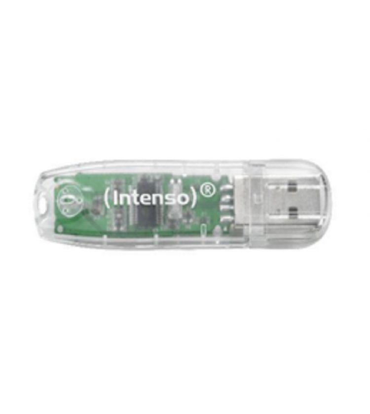 USB Stick Intenso 32GB 2.0 Rainbow Line Transparent