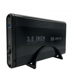 "POWERTECH ΕΞΩΤΕΡΙΚΗ ΘΗΚΗ για HDD 3.5"" με βάση, USB 3.0 up to 4TB, BLACK"