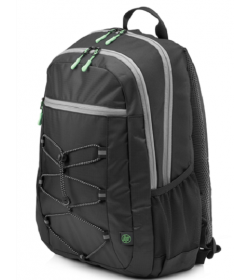 HP Sporty Backpack (Black-Mint Green)