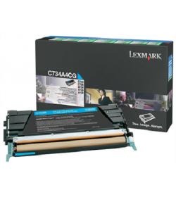 Toner Laser Lexmark C734A6C Cyan Standard 6K Pgs