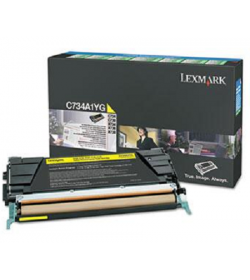 Toner Laser Lexmark X748H1YG High Yield Yellow -10k Pgs