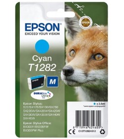 Ink Epson T12824011 Cyan with pigment ink new series Fox-Size M