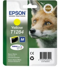 Ink Epson T12844011 Yellow with pigment ink new series Fox-Size M