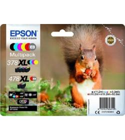 Ink Epson T379D C13T379D4010 Black 11.2 ml C+M+Y 9.3ml Red 10.2ml Grey 11.2 ml
