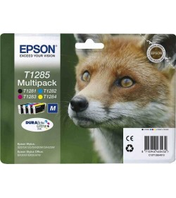 Ink Epson T12854011 Multipack containing 4 Cartridges ink new series Fox-Size M