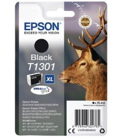 Ink Epson T13014010 Black with pigment ink new series Stag-Size XL (25,9ml)