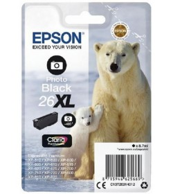 Ink Epson T263140 XL Photo Black with pigment ink