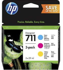 Ink HP No 711 3Pack C-M-Y 29ml ( P2V32A )