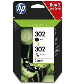 Ink HP No 302 2-pack Black-Tri-color Original Ink Cartridges (X4D37AE)
