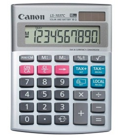 Calculator Canon Desktop Dual Power 10 Digit LS-103TC
