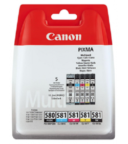 Ink Canon PGI580BK CLI581BK,C,M,Y Multi Pack Black Colour