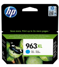 HP 963XL High Yield Cyan Ink Cartridge ( 3JA27AE )
