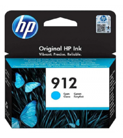 HP 912 Cyan Ink Cartridge ( 3YL77AE )