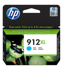 HP 912XL High Yield Cyan Ink Cartridge ( 3YL81AE )