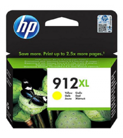 HP 912XL High Yield Yellow Ink Cartridge ( 3YL83AE )