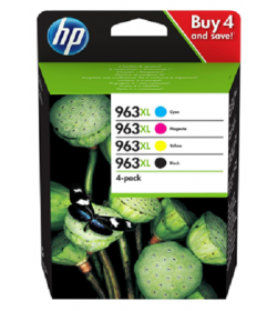 HP 963XL High Yield C-M-Y-K Ink Cartridge 4-Pack ( 3YP35AE )
