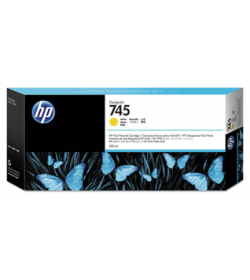 HP 745 Ink Cartridge Yellow 300 ml ( F9K02A )