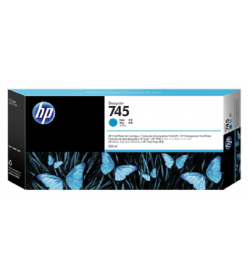 HP 745 Ink Cartridge Cyan 300 ml ( F9K03A )