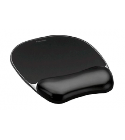 Fellowes Mousepad με Υποστήριγμα Καρπού CRYSTAL BLACK