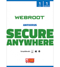 WEBROOT ANTIVIRUS  2017 (1 Licence,  Year)