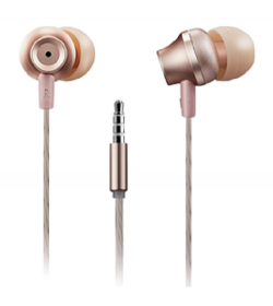 Canyon Jazzy earphones with microphone, alu GOLD, 3.5mm - CNS-CEP3RO