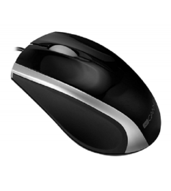 Canyon Ergonomic shaped ενσύρματο  mouse Black Sliver - CNR-MSO01NS