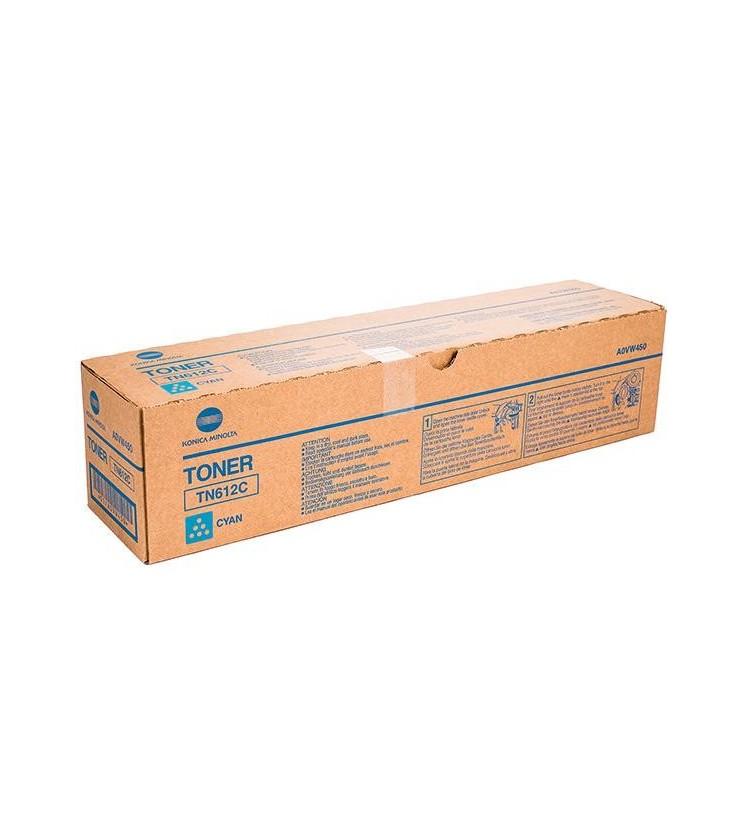 Toner Copier Konica-Minolta-QMS TN612C Cyan 25K Pages