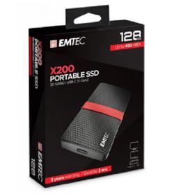 Emtec Εξωτερικός Σκληρός Δίσκος SSD 3.1Gen1 X200 128GB Portable