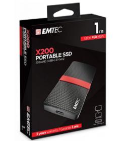 Emtec Εξωτερικός Σκληρός Δίσκος SSD 3.1Gen1 X200 1TB Portable