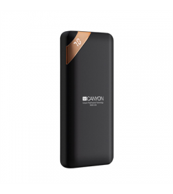 Canyon Compact power bank, digital display 10000 mAh BLK - CNE-CPBP10B