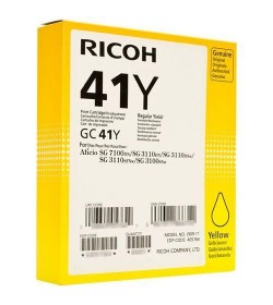 22 Color Laser Ricoh 22GC41Y 405764 Yellow 2.2k Pgs