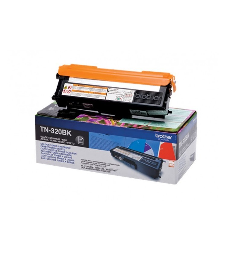 Toner Laser Brother TN-320BK Black - 2.5K Pgs