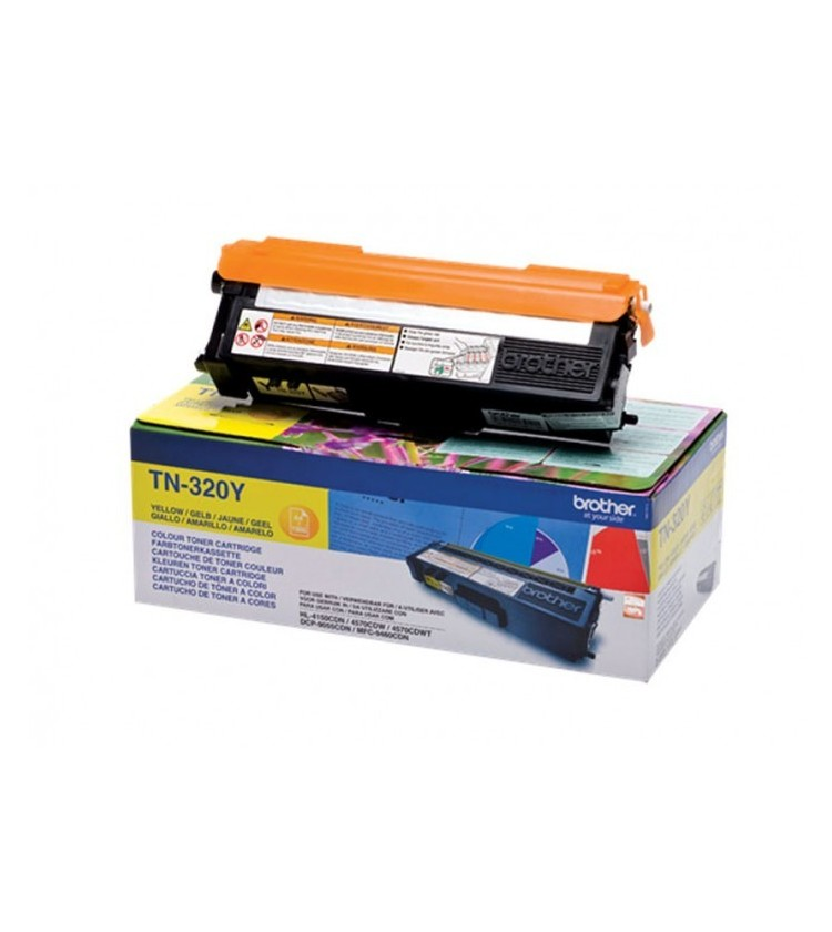 Toner Laser Brother TN-320Y Yellow - 1.5K Pgs