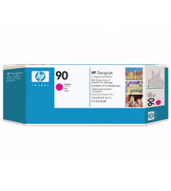 Ink HP No 90 Magenta Printhead and Cleaner