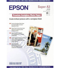 Premium Photo Paper Epson Semi Gloss A3+ 20Shts 251g